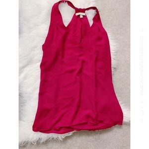 Banana Republic Red Halter Flow Tunic Blouse Small